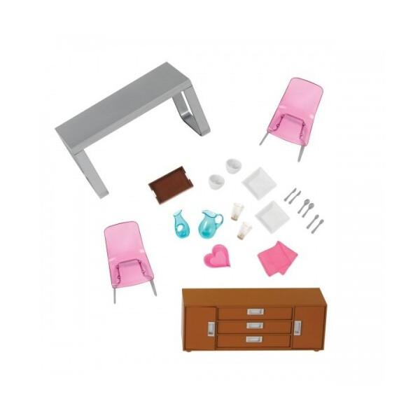 Купить Куклы, наборы для кукол, Набор для кукол LORI Мебель для столовой (LO37030Z), NN