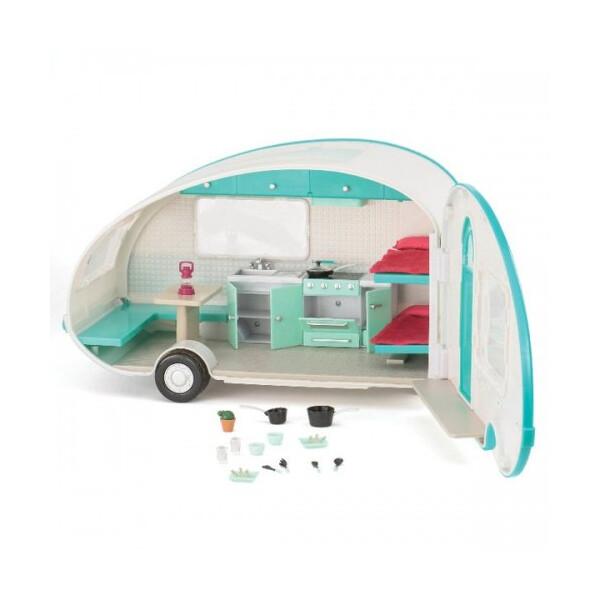 Купить Куклы, наборы для кукол, Транспорт для кукол LORI Кемпер бирюзовый (LO37001)