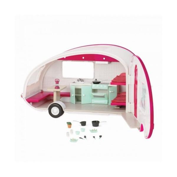 Купить Куклы, наборы для кукол, Транспорт для кукол LORI Кемпер розовый (LO37011Z)