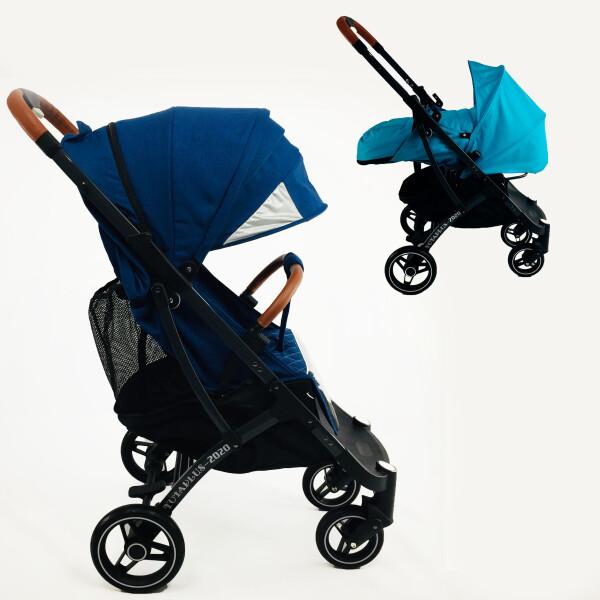Купить Коляски, универсальная YOYA plus PRO 2020 -2в1, цвет Синий с люлькой Голубой