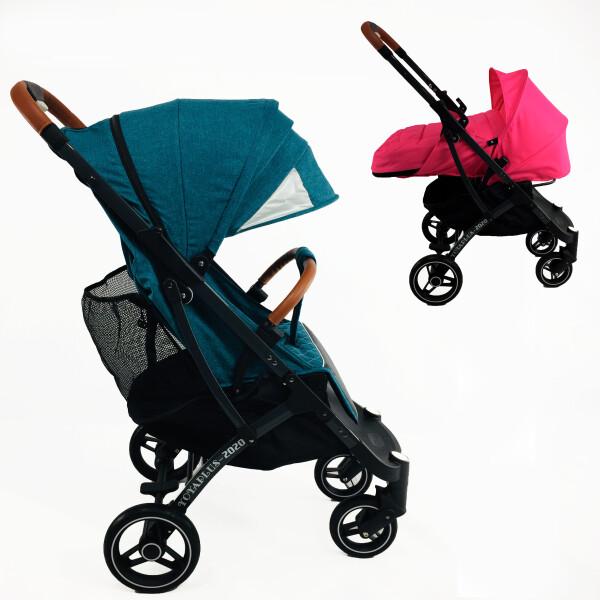 Купить Коляски, универсальная YOYA plus PRO 2020 -2в1, цвет Изумрудный с люлькой Розовой
