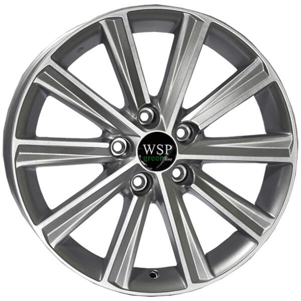 Купить Автомобильные диски, Литой диск WSP GREEN line GREEN line G3901 LIME R17 W7 PCD5X114, 3 ET45 DIA67, 1 SILVER
