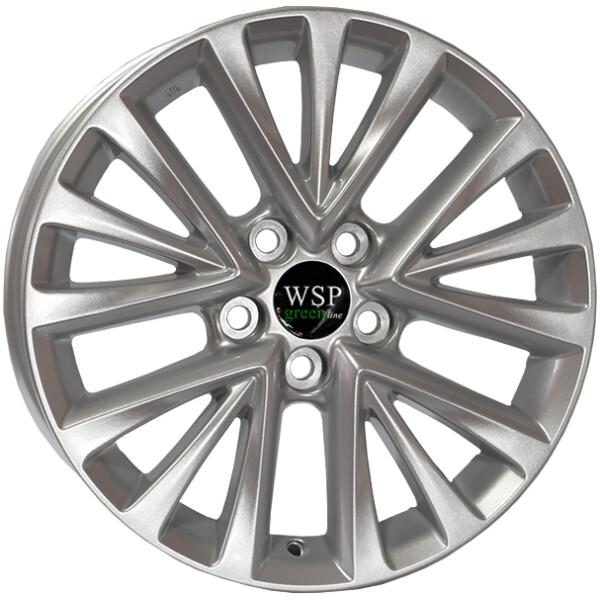 Купить Автомобильные диски, Литой диск WSP GREEN line GREEN line G3902 MINT R17 W7 PCD5X114, 3 ET45 DIA67, 1 SILVER
