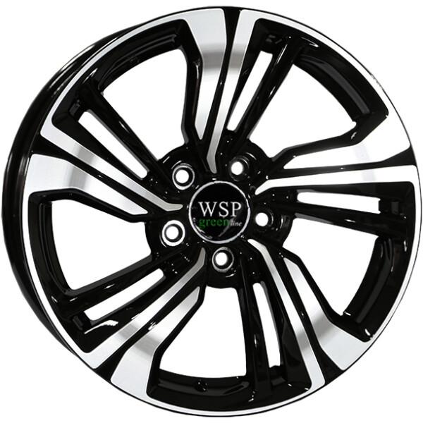 Купить Автомобильные диски, Литой диск WSP GREEN line GREEN line G3903 BASIL R17 W7 PCD5X114, 3 ET45 DIA67, 1 BLACK POLISHED