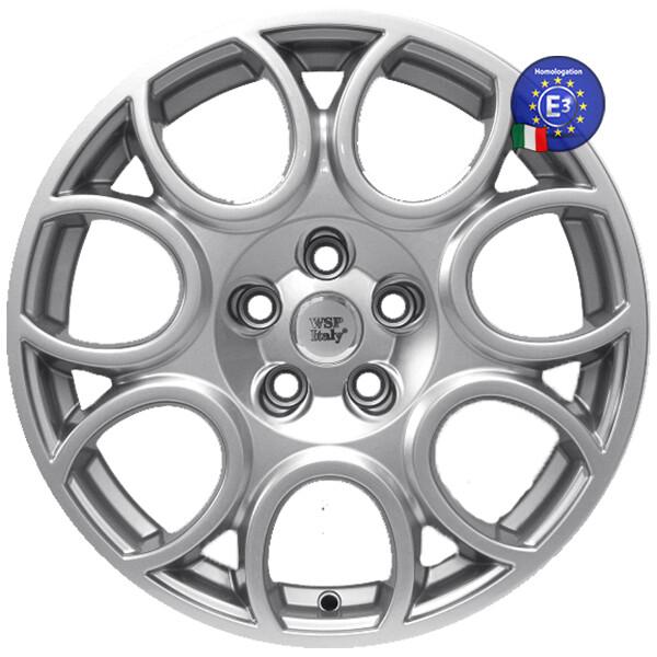 Автомобильные диски, Литой диск WSP Italy ALFA ROMEO W250 SAVONA R17 W7 PCD5X98 ET35 DIA58, 1 SILVER  - купить со скидкой