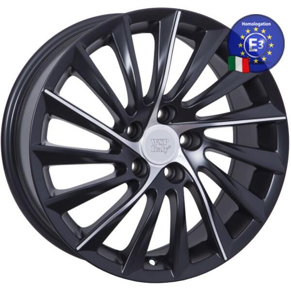 Купить Автомобильные диски, Литой диск WSP Italy ALFA ROMEO W256 GIULIETTA R18 W7, 5 PCD5X110 ET41 DIA65, 1 DULL BLACK POLISHED