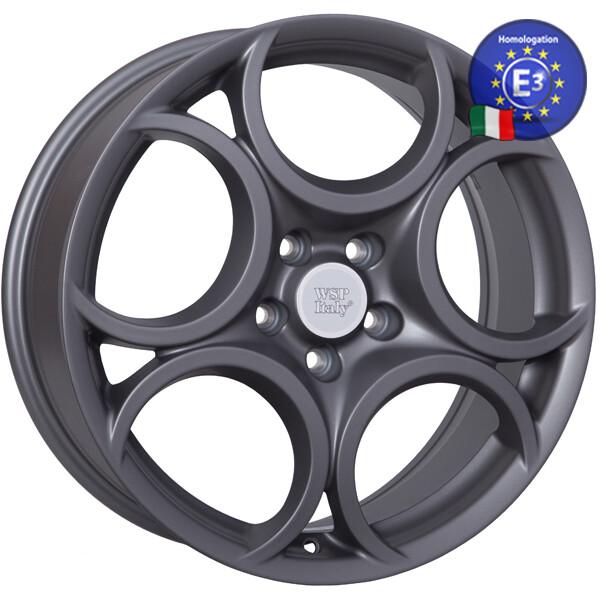 Купить Автомобильные диски, Литой диск WSP Italy ALFA ROMEO W257 ROMEO R18 W7, 5 PCD5X110 ET41 DIA65, 1 MATT GUN METAL