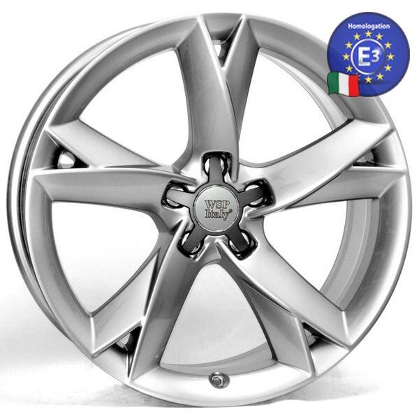Купить Автомобильные диски, Литой диск WSP Italy AUDI W558 S5 Potenza R19 W8, 5 PCD5X112 ET35 DIA57, 1 HYPER SILVER
