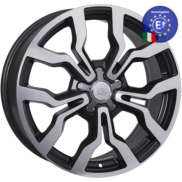 Купить Автомобильные диски, Литой диск WSP Italy AUDI W565 MEDEA R20 W9 PCD5X112 ET38 DIA57, 1 DULL BLACK POLISHED
