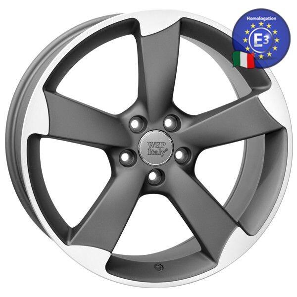Купить Автомобильные диски, Литой диск WSP Italy AUDI W567 GIASONE R19 W8, 5 PCD5X112 ET40 DIA66, 6 MATT GUN METAL POLISHED