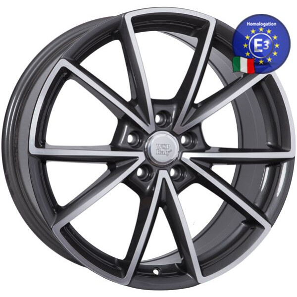 Купить Автомобильные диски, Литой диск WSP Italy AUDI W569 AIACE R19 W8, 5 PCD5X112 ET40 DIA66, 6 ANTHRACITE POLISHED