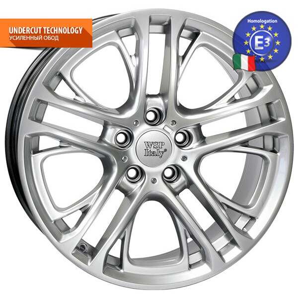 Купить Автомобильные диски, Литой диск WSP Italy BMW W677 X3 XENIA R19 W8, 5 PCD5X120 ET33 DIA72, 6 HYPER SILVER
