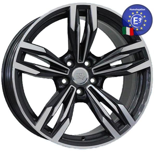 Купить Автомобильные диски, Литой диск WSP Italy BMW W683 ITHACA R20 W8, 5 PCD5X120 ET33 DIA72, 6 ANTHRACITE POLISHED