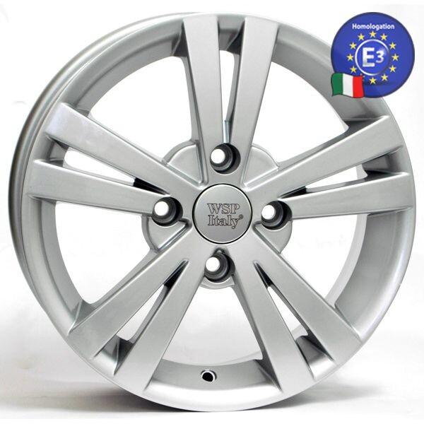 Автомобильные диски, Литой диск WSP Italy CHEVROLET W3602 TRISTANO R15 W6 PCD4X114, 3 ET45 DIA56, 6 SILVER  - купить со скидкой