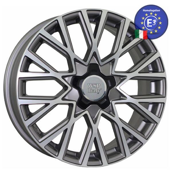 Купить Автомобильные диски, Литой диск WSP Italy FIAT W168 GRAN SASSO R18 W7 PCD5X110 ET40 DIA65, 1 MATT GUN METAL POLISHED