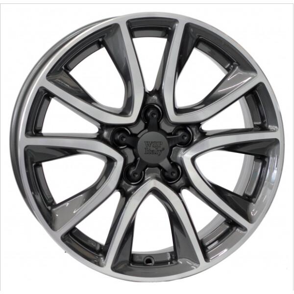 Купить Автомобильные диски, Литой диск WSP Italy HONDA W2411 GERDA CR-Z R17 W6, 5 PCD5X114, 3 ET45 DIA64, 1 ANTHRACITE POLISHED