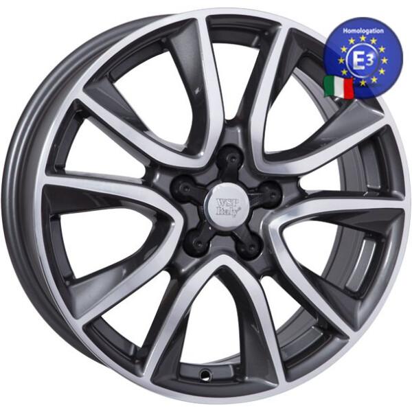 Автомобильные диски, Литой диск WSP Italy KIA W2411 GERDA R17 W6, 5 PCD5X114, 3 ET45 DIA67, 1 ANTHRACITE POLISHED  - купить со скидкой