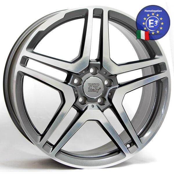 Купить Автомобильные диски, Литой диск WSP Italy MERCEDES W759 AMG Vesuvio R17 W8 PCD5X112 ET35 DIA66, 6 ANTHRACITE POLISHED