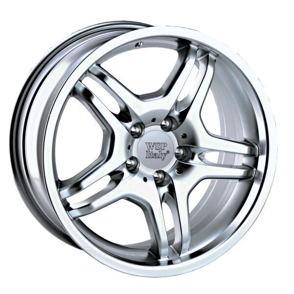 Купить Автомобильные диски, Литой диск WSP Italy MERCEDES W726 AMG E55 R17 W8, 5 PCD5X112 ET30 DIA66, 6 SILVER