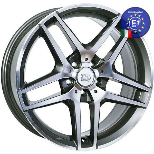 Купить Автомобильные диски, Литой диск WSP Italy MERCEDES W771 ENEA R19 W8, 5 PCD5X112 ET35, 5 DIA66, 6 ANTHRACITE POLISHED