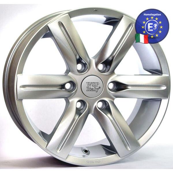 Купить Автомобильные диски, Литой диск WSP Italy MITSUBISHI W3001 PAJERO R20 W9, 5 PCD6X139, 7 ET50 DIA67, 1 SUPER SILVER