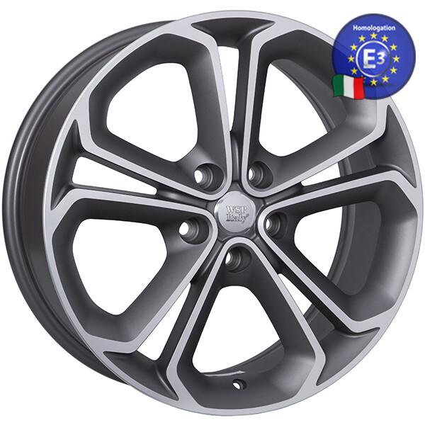 Купить Автомобильные диски, Литой диск WSP Italy OPEL W2510 ZEFIRO R18 W7, 5 PCD5X110 ET37 DIA65, 1 MATT GUN METAL POLISHED