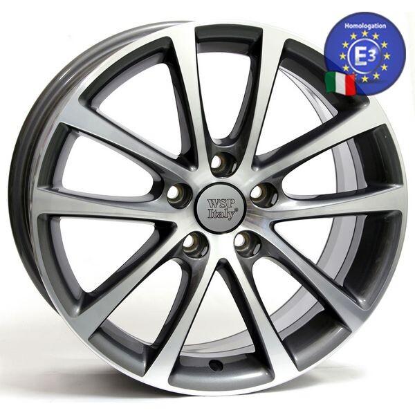 Купить Автомобильные диски, Литой диск WSP Italy VOLKSWAGEN W454 EOS Riace R18 W8 PCD5X112 ET40 DIA57, 1 ANTHRACITE POLISHED