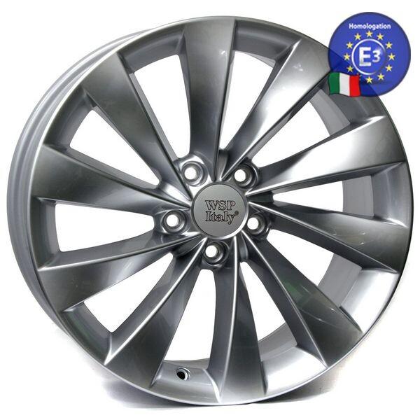 Купить Автомобильные диски, Литой диск WSP Italy VOLKSWAGEN W456 GINOSTRA R17 W7, 5 PCD5X112 ET49 DIA57, 1 SILVER