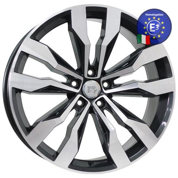 Купить Автомобильные диски, Литой диск WSP Italy VOLKSWAGEN W470 COBRA R20 W8, 5 PCD5X112 ET38 DIA57, 1 GLOSSY BLACK POLISHED