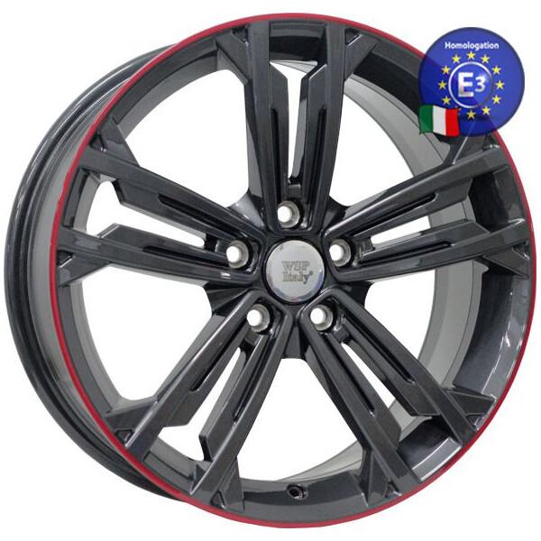 Купить Автомобильные диски, Литой диск WSP Italy VOLKSWAGEN W471 NAXOS R18 W7, 5 PCD5X112 ET49 DIA57, 1 ANTHRACITE LIP RED