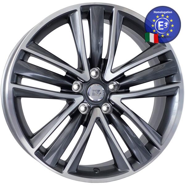Купить Автомобильные диски, Литой диск WSP Italy INFINITI W8801 SIDNEY R19 W8, 5 PCD5X114, 3 ET50 DIA66, 1 ANTHRACITE POLISHED