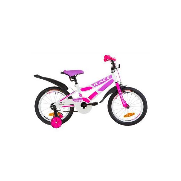Купить Велосипеды, Детский велосипед Formula 16 RACE рама-9 2019 бело-малиновый с фиолетовым (OPS-FRK-16-074) Original