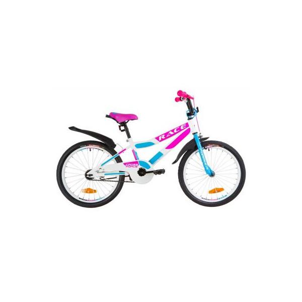 Купить Велосипеды, Детский велосипед Formula 20 RACE рама-10, 5 2019 бело-голубой с малиновым (OPS-FRK-20-069) Original
