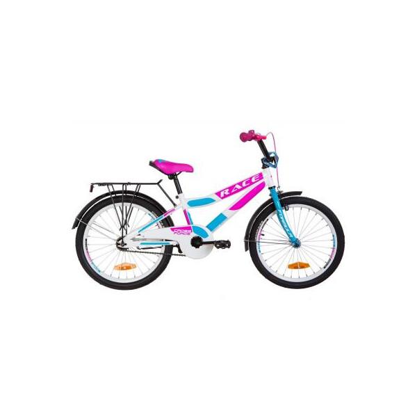 Купить Велосипеды, Детский велосипед Formula 20 RACE рама-10, 5 2019 бело-голубой с малиновым, багажник (OPS-FRK-20-079) Original