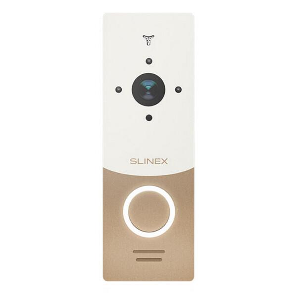 Купить Панели вызова, Вызывная видеопанель Slinex ML-20HR gold+white