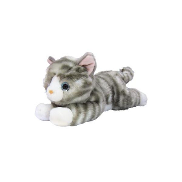 Купить Мягкие игрушки, Мягкая игрушка AURORA игрушки Котенок Серый 25 см (150224F)
