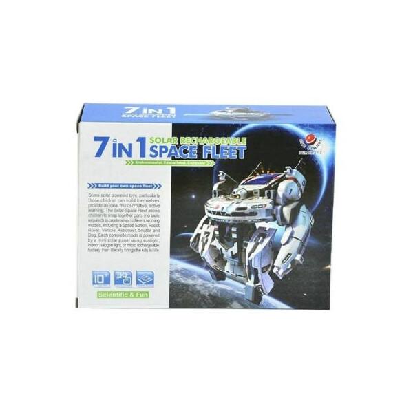 Купить Конструкторы, Конструктор Same Toy Робот-конструктор Космический флот 7 в 1 на солнечной батаре (2117UT)