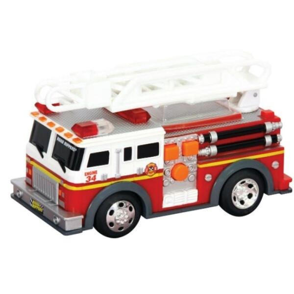 Купить Машинки, техника игровая, Спецтехника Toy State Пожарная машина с лестницей со светом и звуком 13 см (34514)