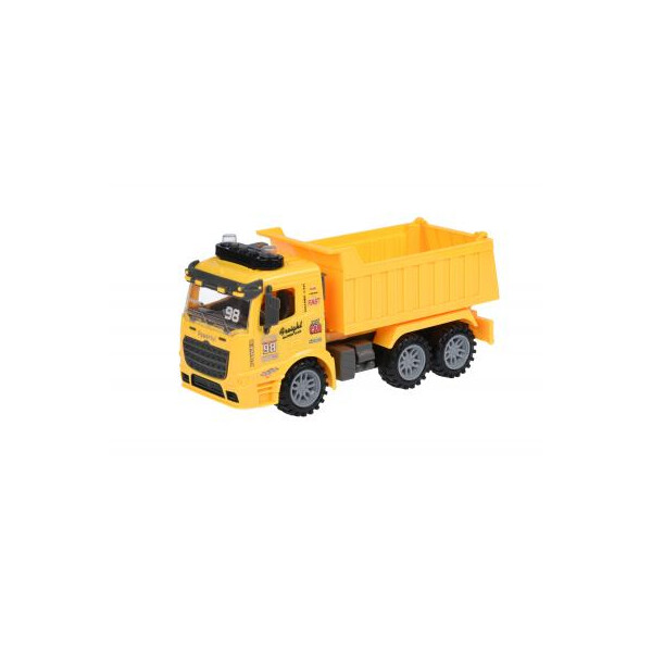 Купить Машинки, техника игровая, Спецтехника Same Toy инерционный Truck Самосвал желтый со светом и звуком (98-614AUt-1)