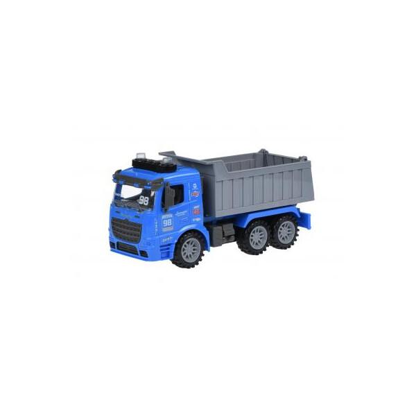 Купить Машинки, техника игровая, Спецтехника Same Toy инерционный Truck Самосвал синий со светом и звуком (98-614AUt-2)