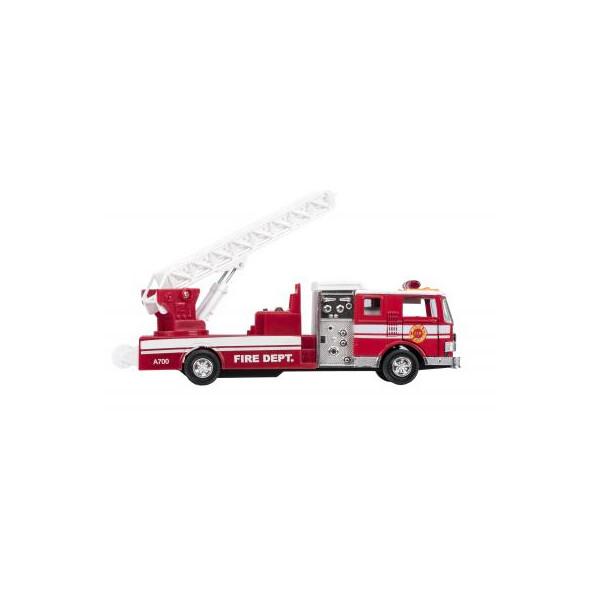 Купить Машинки, техника игровая, Машина Goki металлическая Пожарная машина лестница красная (12115G-2)