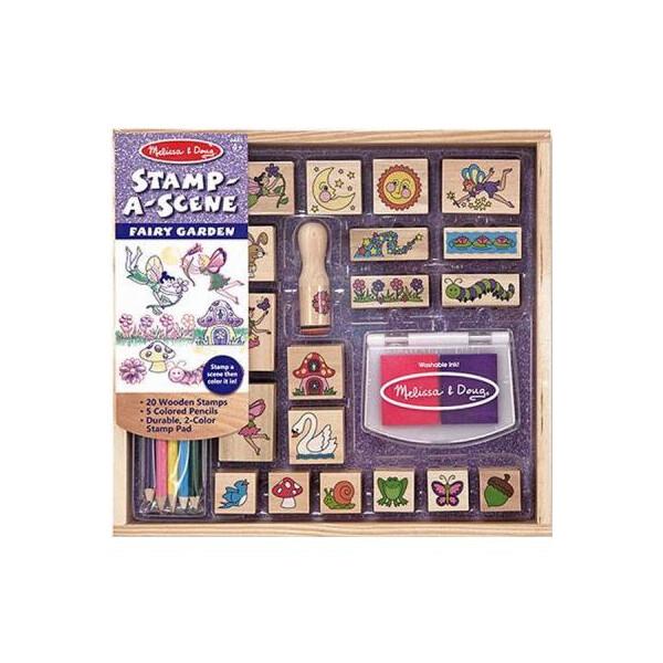 Купить Наборы для творчества и рукоделия, Набор для творчества Melissa&Doug Набор штампов Феи (MD12424)