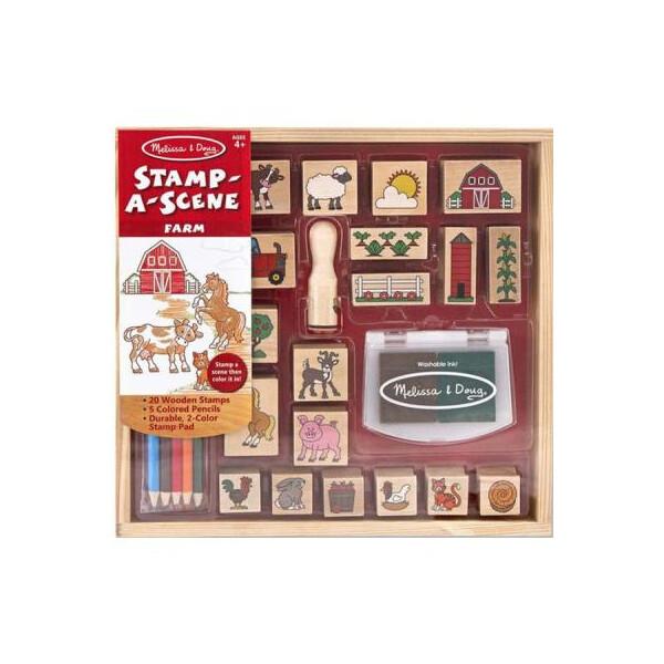 Купить Наборы для творчества и рукоделия, Набор для творчества Melissa&Doug Набор штампов Ферма (MD18592)