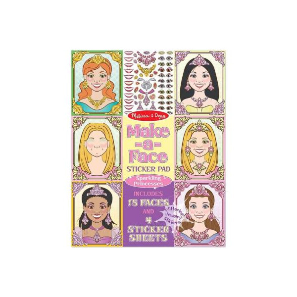 Купить Наборы для творчества и рукоделия, Набор для творчества Melissa&Doug Набор наклеек Принцессы (MD19433)