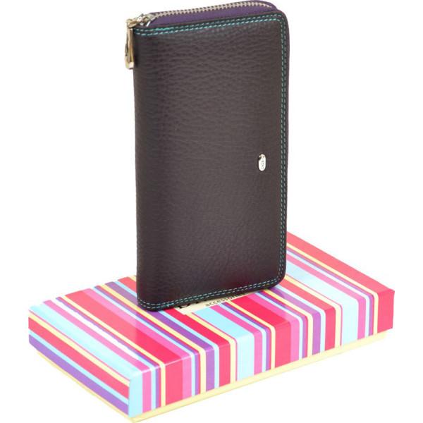 9bd183254dc3 Женский кожаный кошелек Rainbow dr.Bond WRS-4 coffee - купить в ...