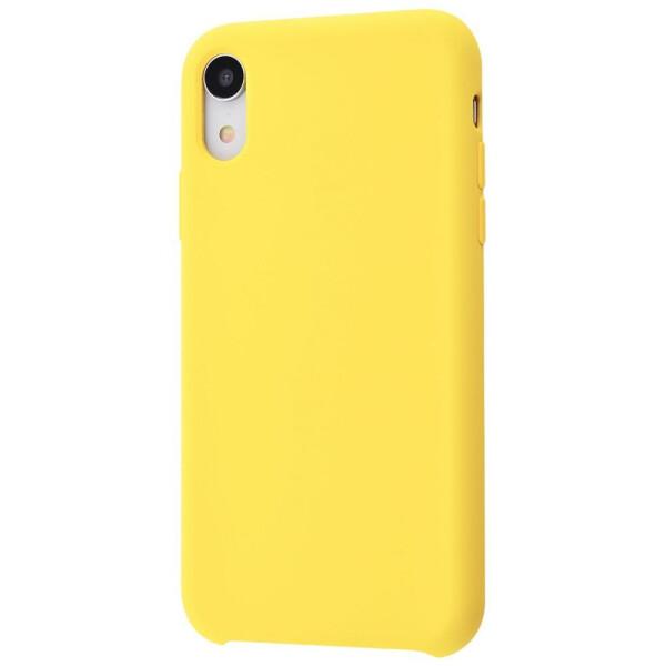 Купить Чехлы для телефонов, Чехол-накладка Silicone Case Without Logo iPhone Xr canary_yellow, ArtStudio