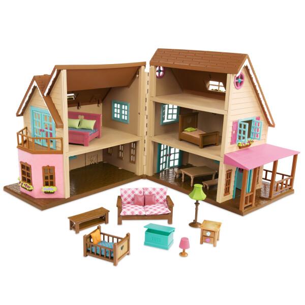 Купить Игровые наборы, Игровой набор Li`l Woodzeez Большой коттеджный дом 6192Z, Lil Woodzeez