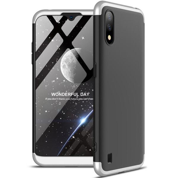 Купить Чехлы для телефонов, Пластиковая накладка GKK LikGus 360 градусов (opp) для Samsung Galaxy A01 (Черный / Серебряный) (904654)