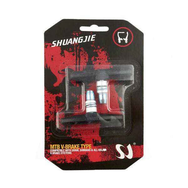 Купить Тормозные колодки для велосипеда, Колодки тормозные велосипедные SHUANGJIE (ободные, V-brake) (черные), NN