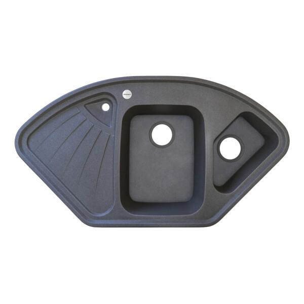 Купить Кухонные мойки, Кухонная мойка гранитная Adamant CONSENSUS сірий-04